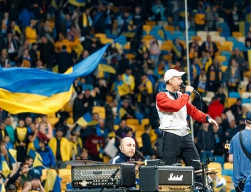 Михалок выступил на 70-тысячном стадионе и вдохновил Украину на победу